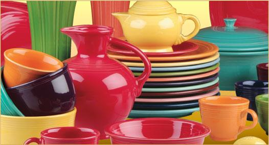 Fiestaware dishes & zesty dishes \u0026 The AlpacaRosa